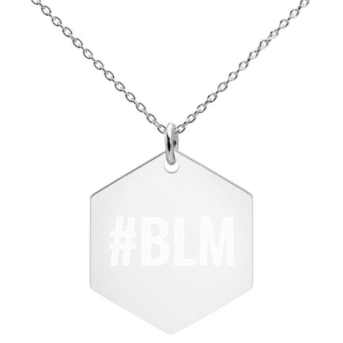 Black Lives Matter Hexagonal Necklace by Damaris Gray