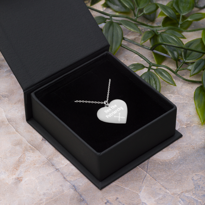 Heart Shaped Hex the Patriarchy Necklace by Damaris Gray