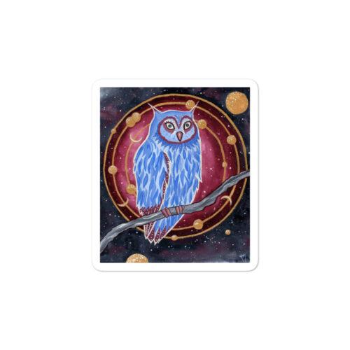 Noctua the Owl by Kira McKeague Damaris Gray sticker