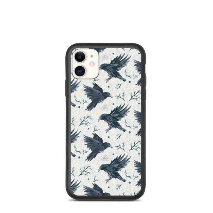 Odin's Ravens Biodegradable iPhone Case by Damaris Gray
