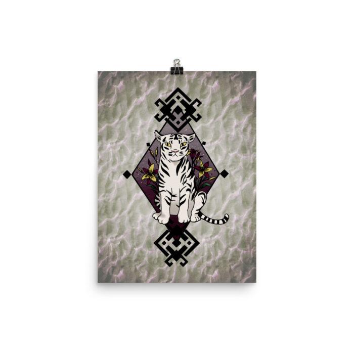 Tiger Lilies Print by Damaris Gray