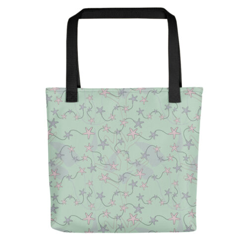 Aquatic Daydream Starfish Tote by Damaris Gray