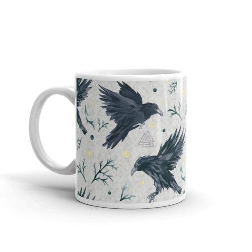 Odin's Ravens Mug by Damaris Gray