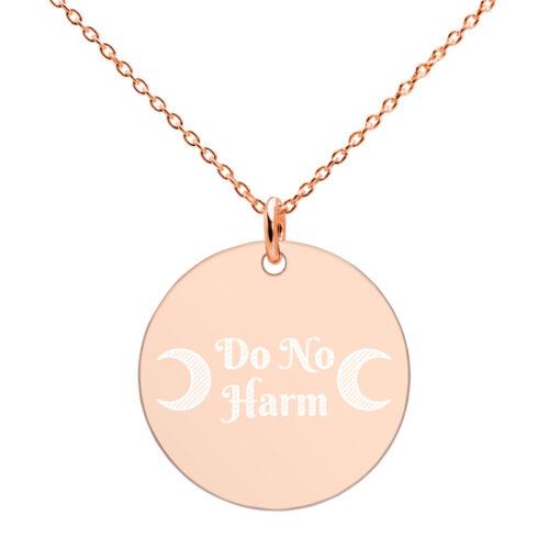 Do No Harm Disc Necklace by Damaris Gray