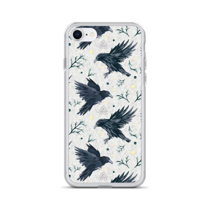 Odin's Ravens iPhone Case by Damaris Gray
