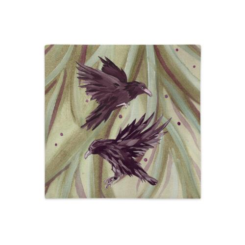 Odin's Ravens Pillow by Damaris Gray