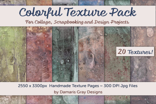 Display Image for Colorful Texture Pack by Damaris Gray