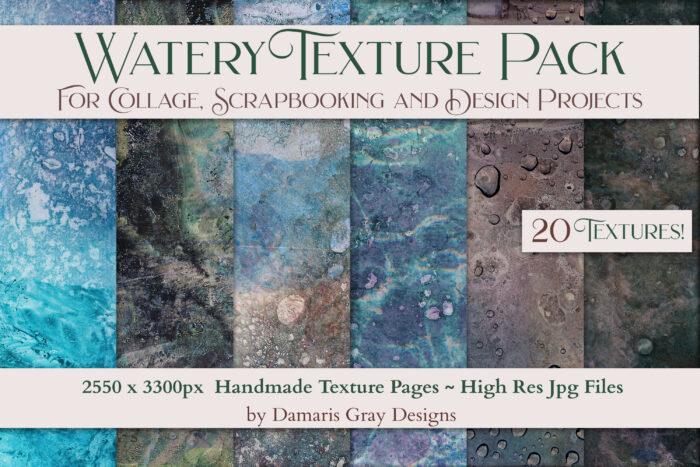 Watery Handmade Texture Pack by Damaris Gray